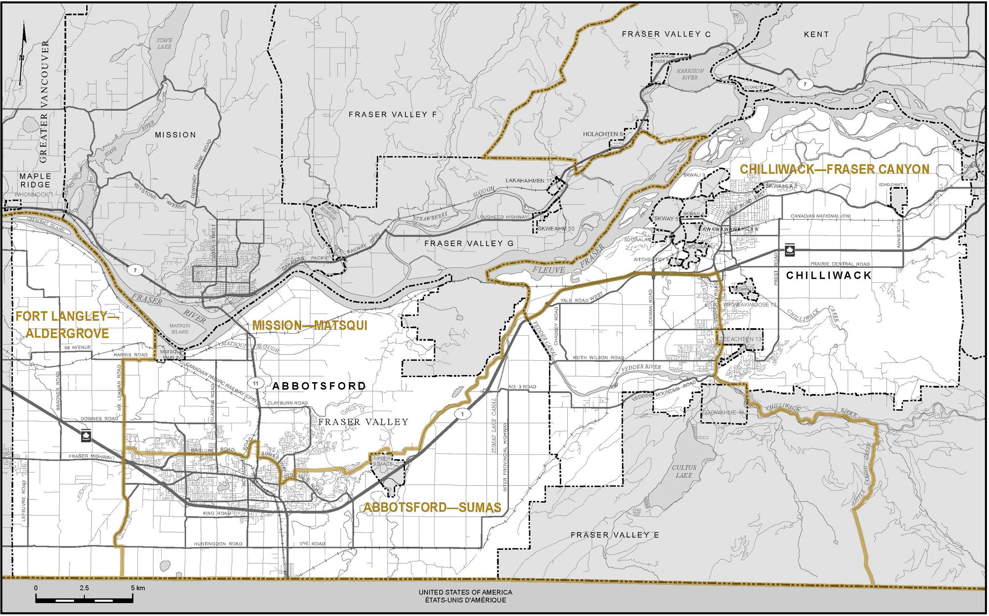 City Of Chilliwack Maps Proposed Boundaries – British Columbia   Redistribution Federal