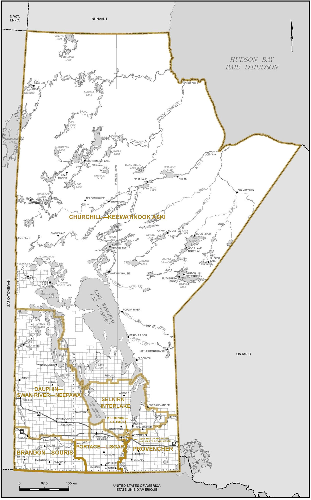 Proposed Boundaries Manitoba Redistribution Federal Electoral - Manitoba map