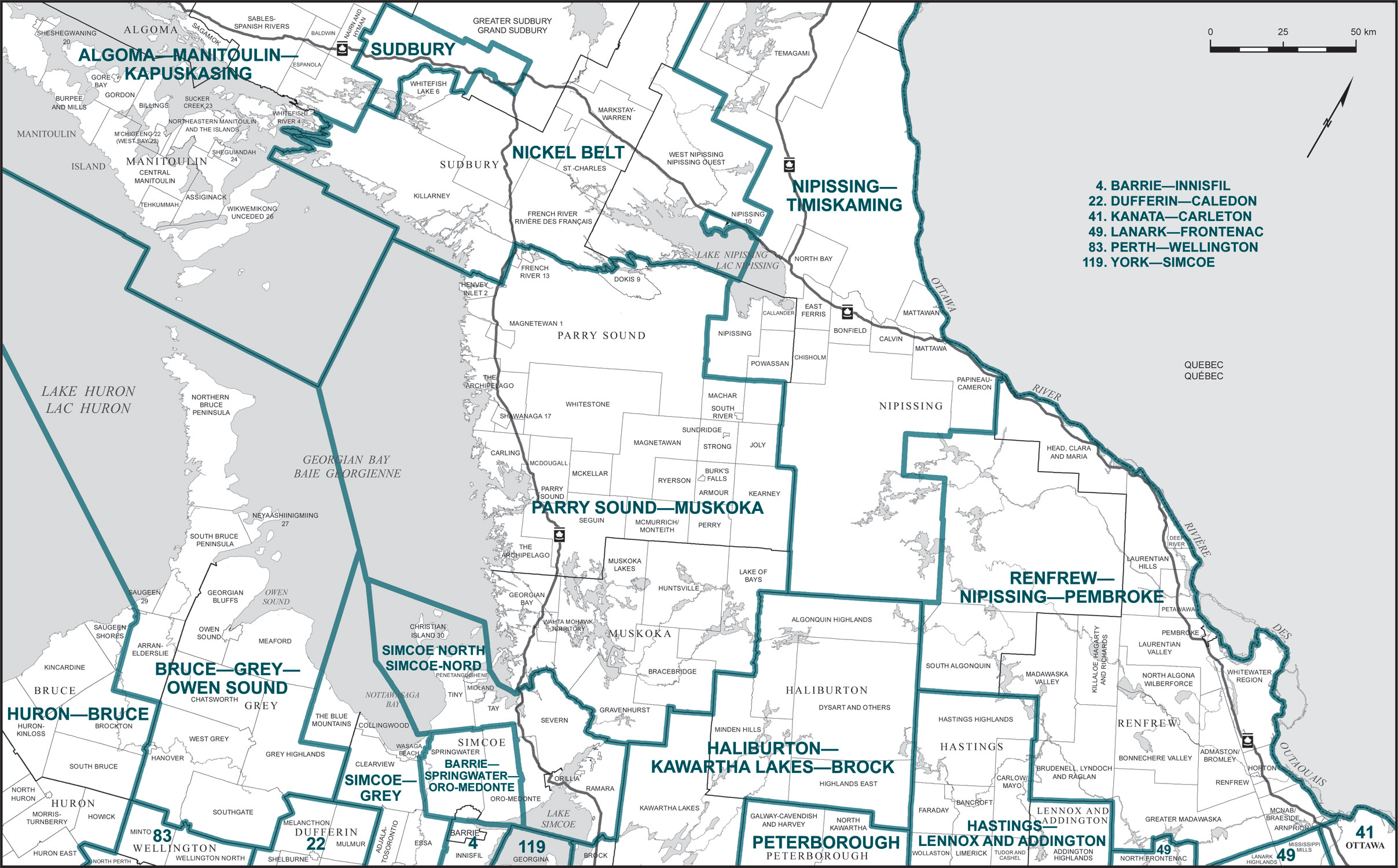 Final Report  Ontario  Redistribution Federal Electoral Districts